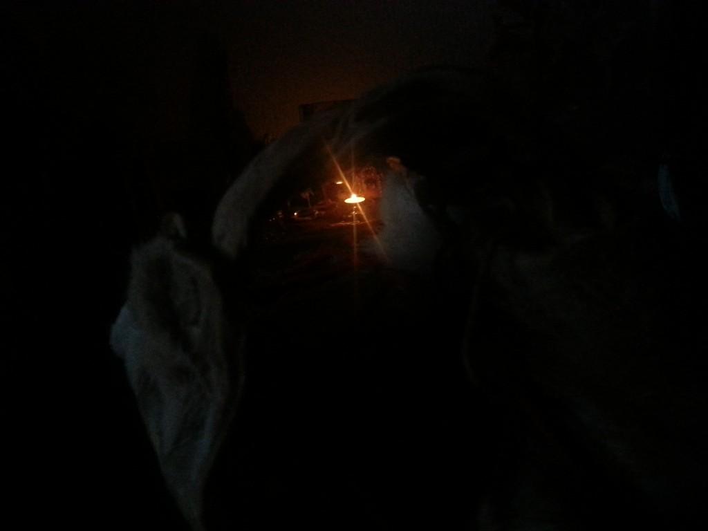 Drum bij kaarslicht